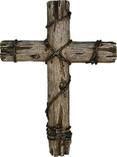 These rugged Christian crosses with barbed wire make stunning wall art with your western themed decor. Hand-painted polyresin, highly detailed to look like real barnwood and barbed wire. Wire Crosses, Wooden Crosses, Crosses Decor, Barn Wood Crafts, Wooden Crafts, Barb Wire Crafts, Barbed Wire Art, Rustic Cross, Burlap Cross