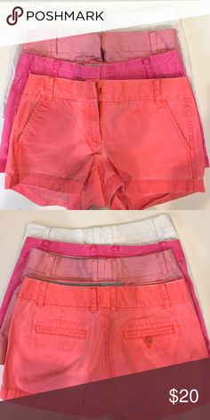 jcrew shorts all worn very gently, slight stain on back of white (can be seen in second picture) J. Crew Shorts Skorts