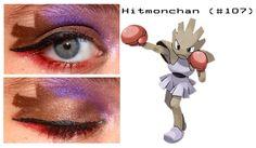 Hitmonchan inspired make up Pokemon Makeup, Pokemon Halloween, Make Up, Lipstick, Costume, Inspired, Beauty, Lipsticks, Makeup