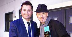 George Clarke presenting Tom Bloxham MBE with a Blue Ribbon Award