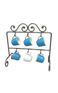 wrought iron mug holders portatazze in ferro battuto
