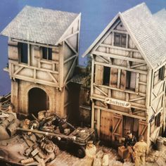 Diorama accessories, Verlinden Old German City  #scalemodel #scratchbuild #scalemodelling #scalemodeller #craftsmanship #military… Diorama, Best Scale, Scale Models, Military, House Styles, Building, Buildings, Dioramas, Scale Model