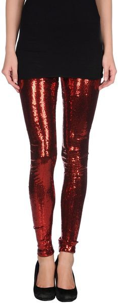 Alice + Olivia Red Leggings perfect for a holiday party! Cute Sweater Outfits, Ugly Sweater Party, Cute Sweaters, Red Leggings, Tights, Sequin Shirt, Alice Olivia, Just In Case, Style Me