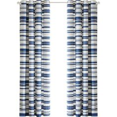 Sadie Stripe Printed Single Curtain Panel Reviews ❤ liked on Polyvore featuring home, home decor, window treatments, curtains, stripe curtain panel, striped window panels, striped window treatments, striped curtain panels and stripe window panel