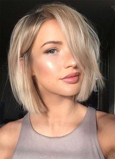 Short Hairstyles for Women: Peek-a-Boo Bob
