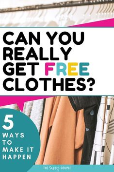 I LOVE getting free things! I don't think anything beats getting free clothes! This article has absolutely genius ways to get free clothes from major companies. All can be done online and is shipped directly to your home by mail. Pin this now! Ways To Save Money, How To Get Money, Money Tips, Money Saving Tips, Money Savers, Earn Money, Free Stuff By Mail, Get Free Stuff, Frugal Living Tips