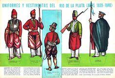 Soldados de juguete fabricados en América del Sur y México: (A) Argentina