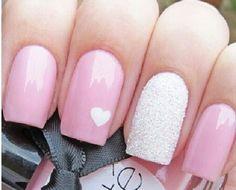 Pretty pink manicure