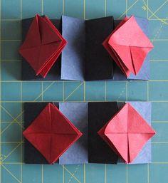Making a Zhen Xian Bao/Chinese Thread Book: Part Two Origami Star Box, Origami Stars, Diy Paper, Paper Crafts, Paper Ornaments, Paper Book, Handmade Books, Bao, Book Making