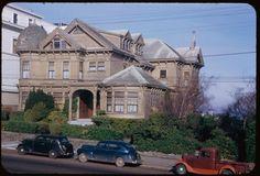 Jan. 22, 1953  Description (Slide):  Old frame house at 2610 Jackson St. from Alta Plaza. San Francisco.