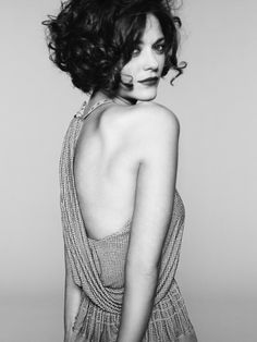 Marion Cotillard  Don't know who she is, but I like her hair style