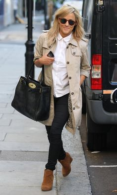 Caroline Flack Out In London, 2012