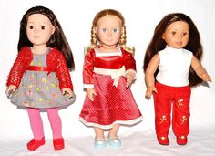 "Lot Of 3 Dressed 18"" Dolls * Madame Alexander Girlz * Battat * Laura Ashley *  #DollswithClothingAccessories"