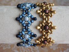 Beaded Bracelet Tutorial, Beading Pattern, Tarah Bracelet Tutorial, Beadweaving, Superduo, Czech Glass, Seed Beads, Drop beads, PDF