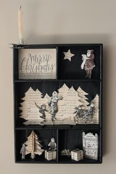 Little scenes could be made for each season. Clever shadow box ideas.