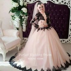 Cheap gown corset, Buy Quality gown supplier directly from China gown dresses for sale Suppliers: Traditional 2016 New Muslim Sleeve Back Applique Pink Tulle Ball Gown wedding dress bridal gown robe de mariage Vestido de noiva Muslim Wedding Gown, Long Gown For Wedding, 2016 Wedding Dresses, Princess Wedding Dresses, Bridal Dresses, Gown Wedding, Vintage Ball Gowns, Lace Ball Gowns, Tulle Ball Gown