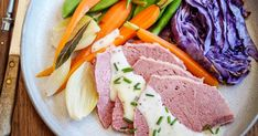 Corned beef is delicious served warm with hot buttery mash, veggies and mustard, and equally good cold between two slices of bread (with a little relish or pickles)! Korn, Corned Beef Silverside, Meat Recipes, Dinner Recipes, Slow Cooker Recipes, Australian Beef, Coles Recipe, Slice Of Bread, Pickled Onions