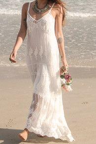 Meilleur blog robe robe longue blanche style hippie - Robe hippie chic dentelle ...