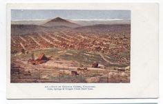 CO ~ Birds Eye View CRIPPLE CREEK Colorado c1903 Teller County