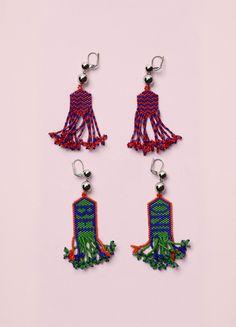 Belong & Beads Zig Zag Earrings - Céline