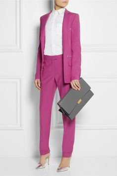 Preen by Thornton Bregazzi | Hutchinson wool-crepe blazer and pants