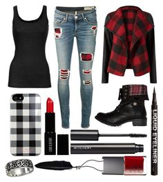 """Untitled #57"" by thenerdygeekyginger ❤ liked on Polyvore featuring rag & bone/JEAN, Parisian, Steve Madden, Vince, H&M, Witchery, Lord & Berry, NARS Cosmetics, Isaac Mizrahi and Ann Demeulemeester"