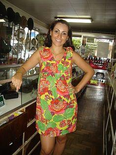 vestido de chita