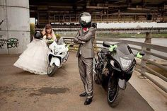 Also her idea for our wedding one day. Motorcycle love lol