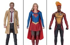 Make Room on Your Toy Shelf for DC Comics' Next Wave of Action Figures from Arrow, The Flash, Supergirl and Legends of Tomorrow Toy Shelves, Shelf, Dc Comics Action Figures, Cw Dc, Hawkgirl, Collector Dolls, Bobble Head, The Flash, Arrow