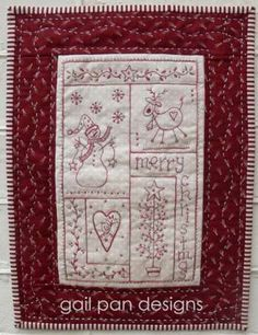 Love Christmas - by Gail Pan Designs - Stitchery PatternSECONDARY_SECTION$13.86: Fabric Patch: Patchwork Quilting fabrics, Moda fabric, Quilt Supplies,�Patterns