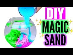 Today I have this super fun and easy DIY for you! Aqua sand or Magic Sand is water repellent sand that looks super cool . Fun Crafts, Diy And Crafts, Crafts For Kids, Cool Diy, Easy Diy, Karina Garcia, Magic Sand, Diy Slime, Sand Art