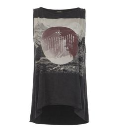 AllSaints Spitalfields Sphere Tank: i like this very much. i wish i knew what it said....