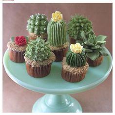 Cactus cupcakes!