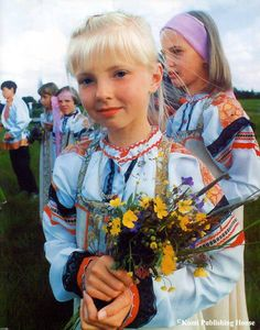 (Komi people) Komi Girl. Siberia, Russia.