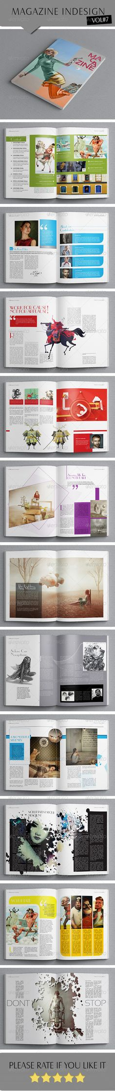 Indesign Fashion Magazine Template  Magazine Template