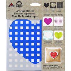 Folkart Layering Stencils 3pc-Heart - ValuCrafts.com
