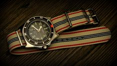 Vostok Amphibia 090916 mod with stainless steel polished shark teeth bezel , ceramic insert, stainless steel crown and rubber OSC strap. Stainless Steel Polish, Stainless Steel Bracelet, Vostok Watch, Camera Watch, Luxury Watches For Men, Unique Watches, Rocker, Nato Strap, Wooden Watch