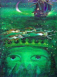 Illustration Josef Paleček . The little mermaid