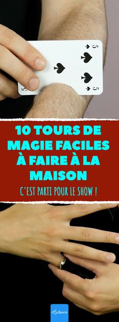 10 easy magic tricks to do at home. It& gone for the show! Le Show, Easy Magic Tricks, Orlando Magic, Tours, Best Blogs, Activities For Kids, Spectacle, Cool Stuff, Cabaret