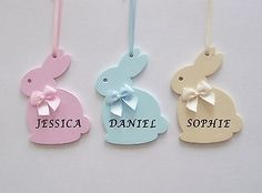 Personalised easter decoration, bunny rabbit gift, hanging decoration, boy girl