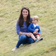 Kate and George watching William play Polo 6/14/15