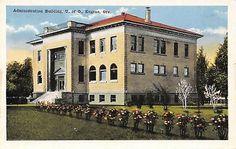 Eugene~University of Oregon~Administration Postcard University Of Oregon, 1920s, Mansions, House Styles, Building, Manor Houses, Villas, Buildings, Mansion