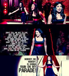 Don't rain on my parade <3. One of my favorite glee covers!! I sang this in the talent show for my school last year!