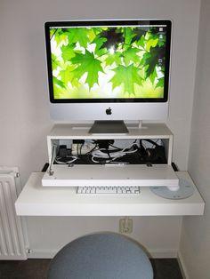 bureau apple mac Ikea hack - Tuxboard