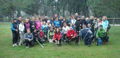 Nordic Walking con i bravissimi istruttori Donatella,Lele e Ciro.  www.slowsports.it