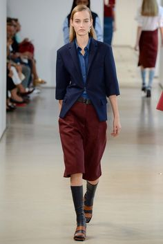 Jil Sander Spring 2015 Ready-to-Wear Fashion Show - Maartje Verhoef