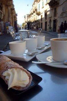 Yes! Coffee n cannoli in Italy! Missing it! #blessed