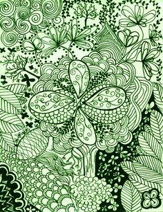 Zentangle 1  Green