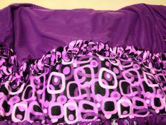 Purple tie blanket I made