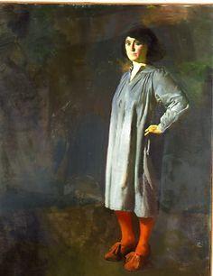 "Tibor CSERNUS ""Sans titre (miriam)."" 116 x 89 cm. 1979. Huile sur toile"